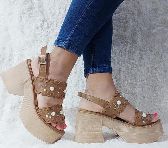 Zapatos Mujer Sandalias Plataforma Perlas Moda Verano 211