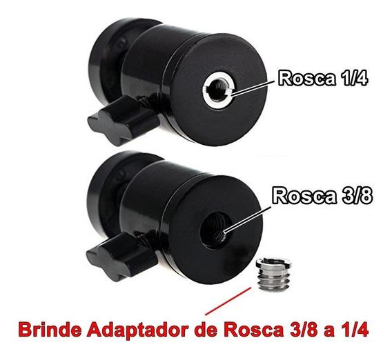Mini Cabeça Ball Head Com Rosca De 1/4 P/ Tripé E Câmera