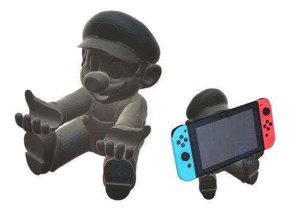 Kit Suporte Stand Mario E Caixa Para Jogos Nintendo Switch