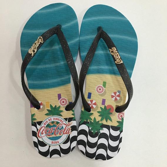 Chinelo Coca Cola Shoes Rio Ref:82525