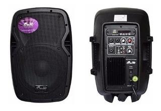 Bafle Parlante Potenciado Gbr Pl-840 Power Pro Series 400w Mp3 Bluetooth Control Remoto Sd Radio Fm Rca Plug Mijalshop