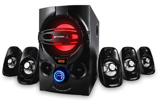 Home Theater 5.1 Subwoofer Potente Led Rca Usb Fm + Control