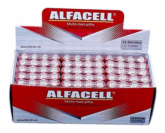 Alfacell 1 Cx Pilha Normal Aa 2a + 1 Cx Pilha Palito Aaa 3a