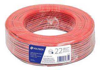 Cable Para Bocina 22 Awg Bicolor 100 M Volteck 46264