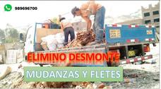 Eliminación De Desmonte// Taxi Carga Y Mudanzas// Todo Lima