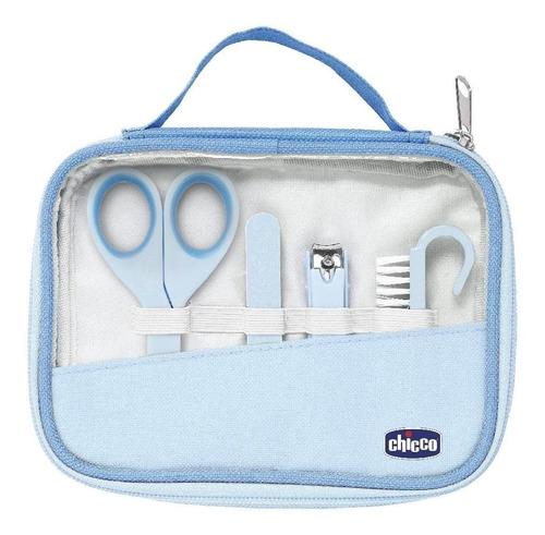 Imagem 1 de 3 de Kit Higiene E Cuidados Do Bebê Manicure Completo Azul Chicco