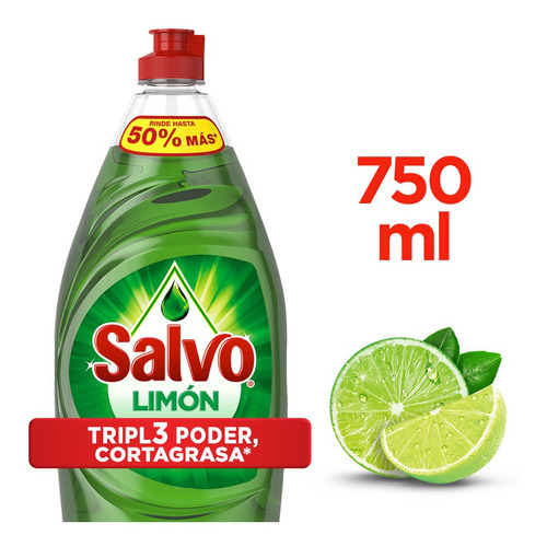 Lavaplatos Líquido Salvo Limón 750 Ml - mL a $14