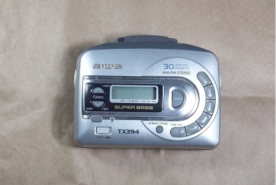 Walkman Aiwa Tx394 Am/fm 30 Pré-ajustes No Estado