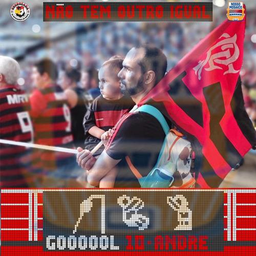 Imagem 1 de 5 de Moldura Digital Para Fotos Dia Dos Pais Flamengo