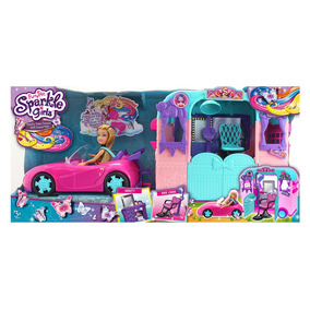 Playset Com Veículo E Boneca - Sparkle Girlz - Beauty Salon