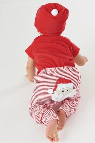 Imagem 1 de 6 de Roupa De Natal Bebê Kit Papai Noel  Menina Menino Entrega Já