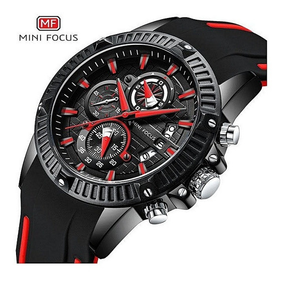Relógio Masculino Minifocus Preto Original Modelo Mf0244
