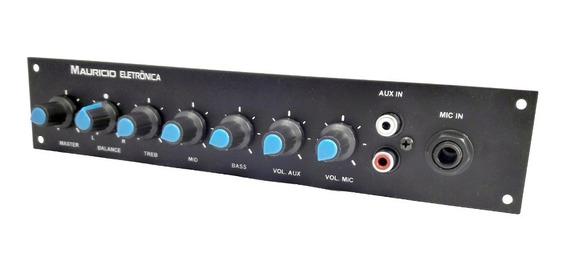 Pre Amplificador Estereo Com Espelho,auxiliar Stereo E Mic