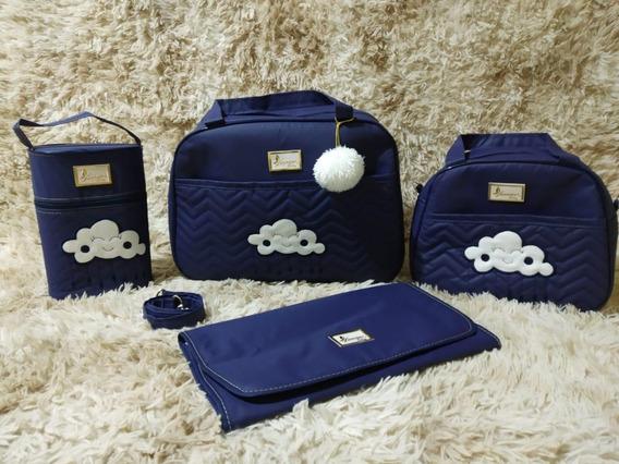 Kit Bolsas Maternidade 4 Pçs Luxo