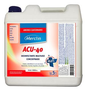 Desinfectante Multiuso Concentrado Merclin 5 L Rinde 200 L