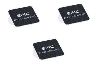 3 Stickers Negros Epic Rfid Para Cerradura Digital