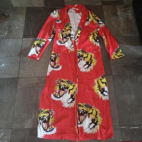 Hermoso Abrigo Kimono Tipo Gucci Tigre Rojo