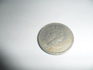 Moneda Antigua De Colección Elizabeth Ii 1955