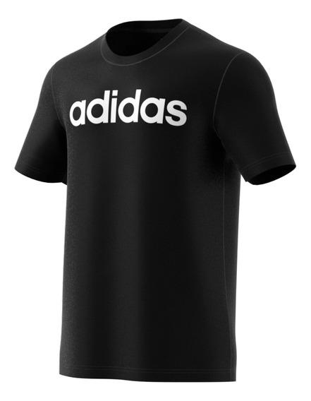Remera Essential Linear Negra/bl adidas Hombre