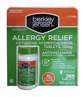 Berkley Y Jensen 10 Mg Cetirizina Clorhidrato Antihistaminic