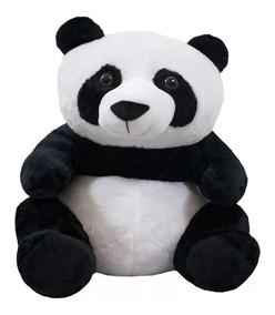 Pelúcia Urso Panda Sentado 45cm Lindo E Realista Fofy Toys