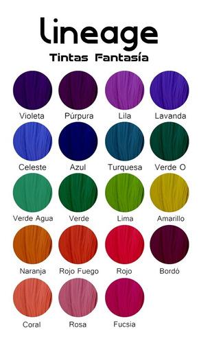 Tintas Colores Fantasía Lineage De 280ml / Semipermanente.