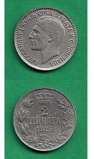 Grr-moneda De Yugoslavia 2 Dinara 1925 - Rey Alexander I