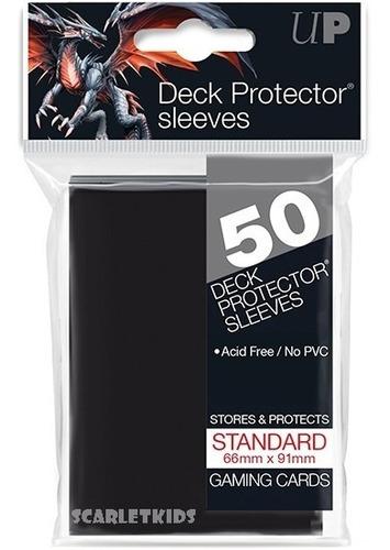 Imagen 1 de 6 de Protectores Magic Ultra Pro X50 Unidades Negro Scarlet Kids