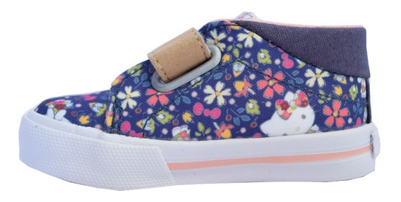 Zapatillas Topper Ollie Kitty Ii Flower Baby Azul-rosa