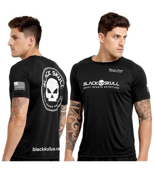 Camiseta Padrão - Algodão Preto - Black Skull