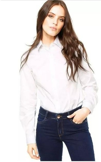 Camisa Social Feminina Dudalina - Branca
