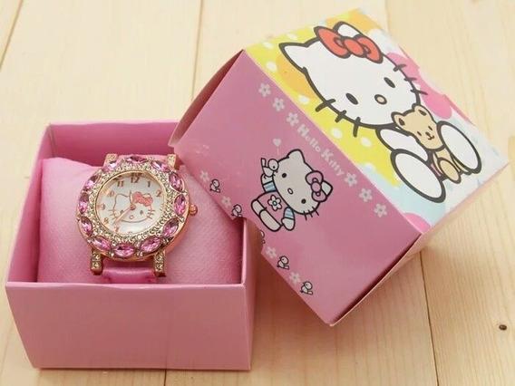 Relógio Hello Kitty Feminino Infantil Pronta Entrega Barato