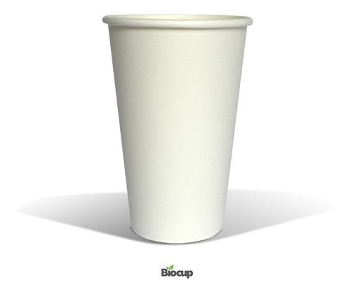 Vaso Ecológico De Papel 16 Oz Blanco Biocup, Reciclable 100%