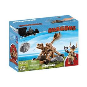 Playmobil Dragões Bocão Com Catapulta - 9245