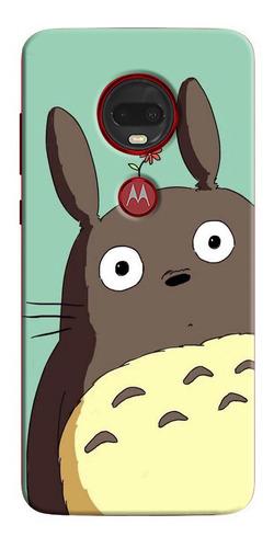 Estuche Personalizado Totoro Flor iPhone Samsung Huawei