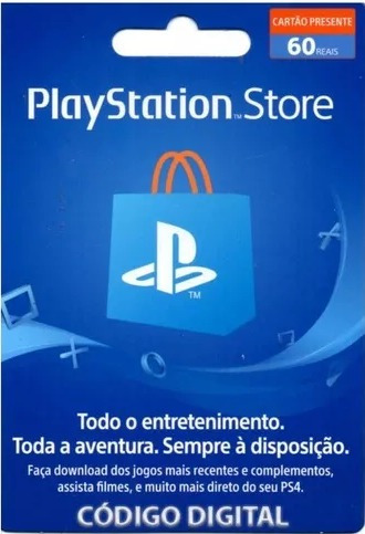 Playstation Network Card $50+$10 Cartão Psn Usa $60 Dólares