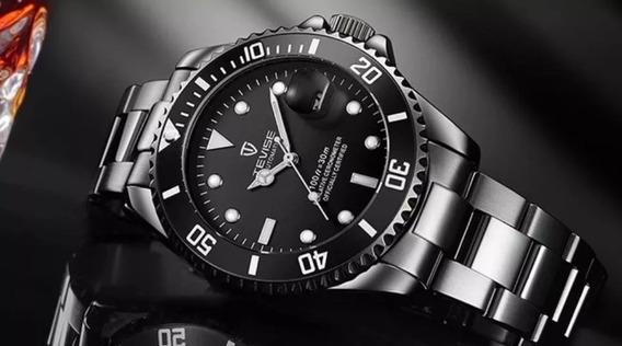 Relógio Masculino Automático Tevise Luxo Original Barato