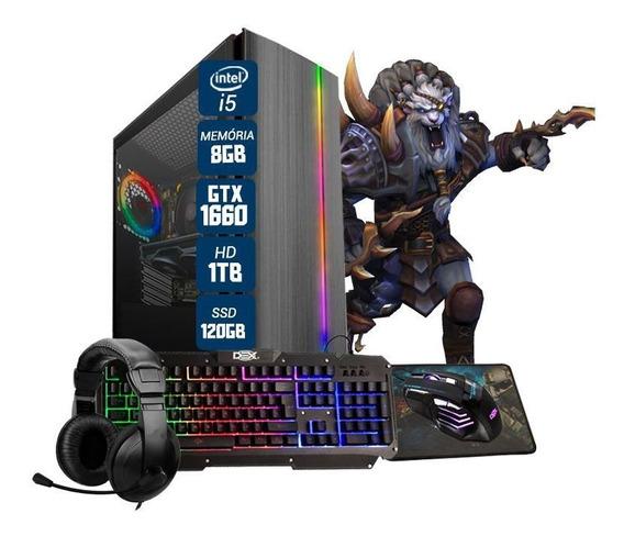 Pc Gamer Maximus I5 Gtx 1660 6gb 8gb Hd 1tb Ssd 120gb Wi-fi