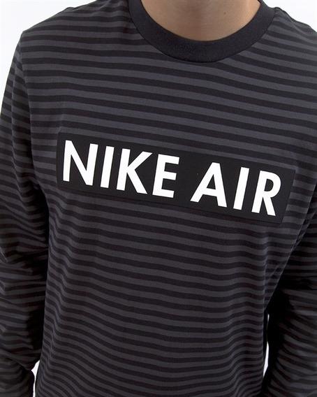 Nike Air Sudadera Rayas Neg/gris Cab Med 930461