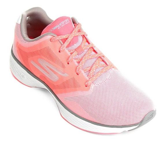 Tênis Skechers Go Walk Sport Feminino Rosa/branco 34 38