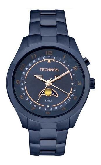 Relógio Technos Feminino Ref: 6p80ae/4a Calend. Lunar