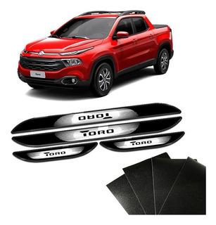 Kit De Soleira Adesiva Da Porta Resinada Fiat Toro 16/