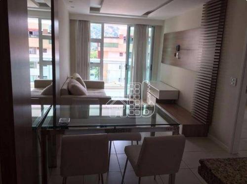 Apartamento Com 1 Dormitório À Venda, 60 M² Por R$ 420.000,00 - São Francisco - Niterói/rj - Ap1364