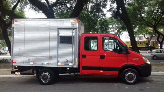 Iveco Dailly 35s14 2013 Cabine Dupla Único Dono C/ Baú Nova!