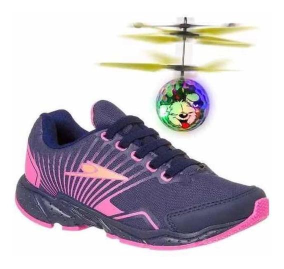 Tênis Infantil Feminino Super Macio E Leve Klin Drone 214
