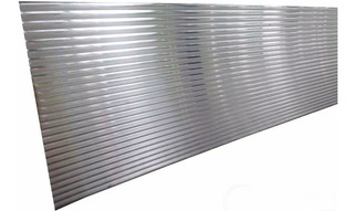 Rodapie De Aluminio Brillante 3 Mts Cocinas Empotradas