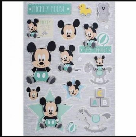 Adesivo 3d 14x21 Cm Baby Mickey 19579 Toke E Crie