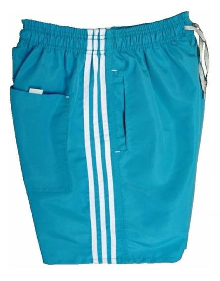 5 Bermuda Short Com 3 Bolsos Tactel Masculino Costura Forte