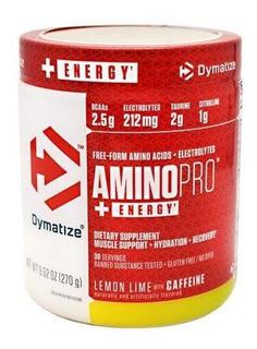 Amino Pro Dymatize 30 Doses Bcaa + Taurina Citrulina Cafeína