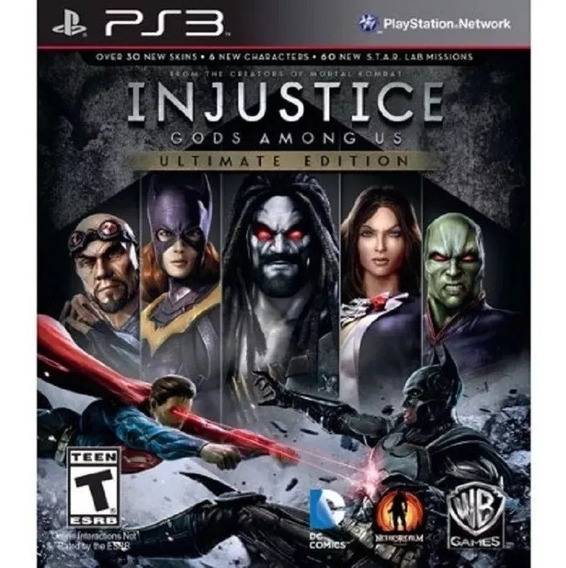 Injustice Gods Ultimate Edition Dublado Portugues Jogos Ps3